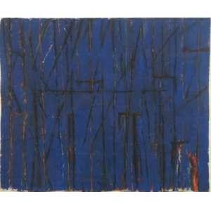GONÇALO IVO, S/T, têmpera, carvão e pastel sobre papel do Nepal - acid, 1987, 60 x 70 cm.