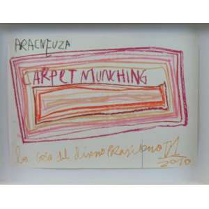 MARCELO SOLÁ - CARPET MUNCHING - Pastel S/ Papel - NÃO Assinado - 30 x 41 cm - datado 2010