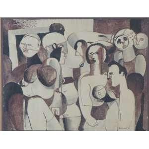 BABINSKI, S/T, tec. mista s/ papel, ass. cid, 1966, 24 x 31 cm.