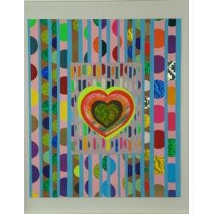 BEATRIZ MILHAZES, Batucada, collor print with foil, stamping, ass.no verso, 2009. Edição: 37/45, 35 x 30 cm.