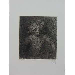 Mário Gruber - Fantasiado - Gravura em metal - água tinta / CID - dat 1973 - N° 6/40 - 35 x 26 cm. Obra não emoldurada