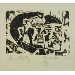 LÍVIO ABRAMO, Espanha 1936, Xilogravura, ass. cie, dat.1936 Edição: 30/60, 20 x 23 cm. Obra não emoldurada.