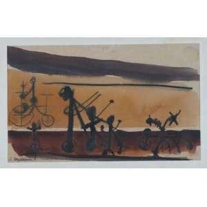 RUBENS GERCHMAN, S/T, aquarela, ass. cie, déc 60, 21 x 35 cm.