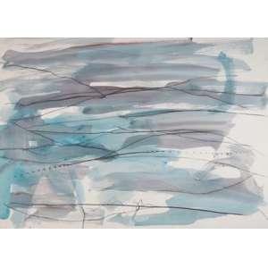 MARCO GIANOTTI, S/T, tec. mista sobre papel, ass. cie, 1990, 70 x 100 cm. Obra não emoldurada.