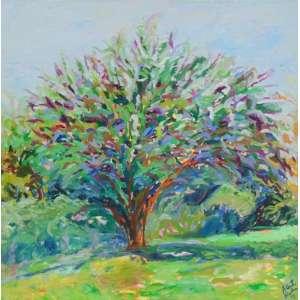 ALBERTO NICOLAU - A grande árvore - OST/CID - dat 1998 - 117 x 116 cm - Com etiqueta da Dan Galeria no verso