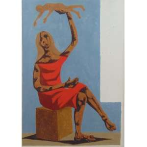 Clovis Graciano - Figura feminina - guache / CID - Dat 70 - 48 x 34 cm.