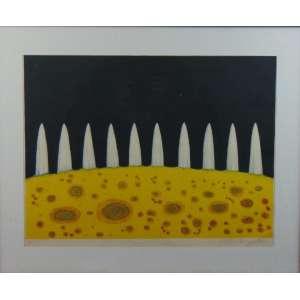 Antonio Henrique Amaral - Litogravura - CID - 15/30 - 43 x 56 cm. Consta catalogada no livro Obra Grafica do artista.