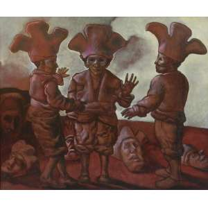 MARIO GRUBER – Fantasiado - OSM/CIE - dat 91 - 59 x 71 cm.