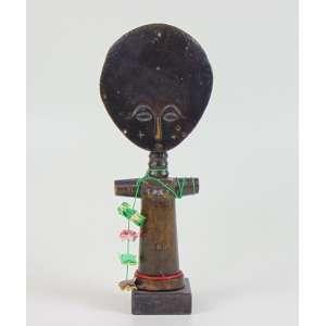 Escultura Africana ASHANTI - Ghana - 25 cm altura . Acompanha xerox do certificado da Galeria SEGY de Nova York de Ladislas Segy adquiridas em junho de 1977.