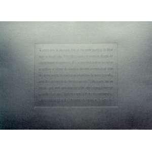 Rosângela Rennó - Sem título (mórmon), da série: Arquivo Universal 1998 - Tinta automotiva sobre relevo seco sobre papel cartão 35,8 x 48,8 cm - Clube de Colecionadores de Gravura MAM-SP - Tiragem de 35 exemplares cada - Marcas de oxidação