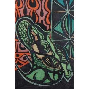 DI CAVALCANTI - Mulheres - Serigrafia - CID - dat 1965 - 53 x 35 cm.