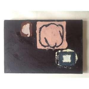 Paulo Whitaker - Sem título - Acrílica sobre tela - Assinada P.W. e datada no verso - 2008 - 29,7 x 10,4 cm.