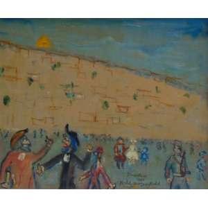 MICHEL GEORGES MICHEL (1883-1985) - Jerusalém - OSM/CID - 50 x 60 cm. Estudou na Beaux Arts , estudante de Othon Friesz e Dufy . Artista plastico e Conselheiro artístico, trabalhou com os Ballets Russes de Sergei Diaghilev de 1913 a 1929. Em 1917 organizou a primeira exposição de Picasso em Roma . Fundador SARAU de Roma para a poesia, trabalhou em exposições de Matisse e Soutine na Bienal de Veneza .