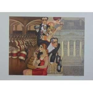 JUAREZ MACHADO - Chateau Margaux - Serigrafia - CID - 23/80 - 56 x 70 cm não emoldurado.