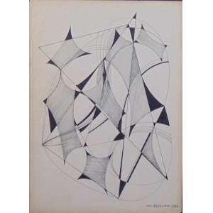 Wladyslaw - Desenho Geométrico - CID - datado 1956 - 37 x 26 cm.