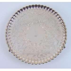 Salva de Prata de lei Brazonada - 21 cm de diâmetro
