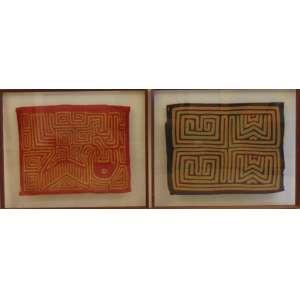Lote com dois tecidos africanos - 34 x 44 cm - 36 x 48 cm.