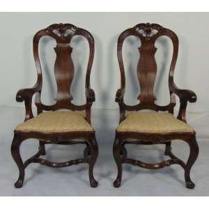 Par cadeiras de madeira de lei de linhas Harmônicas estilo D. Jose I. Brasil Séc XIXXX