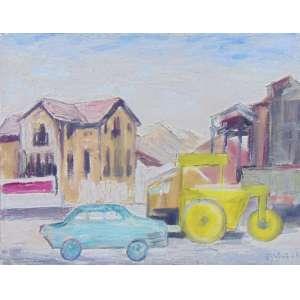 MARIO ZANINI - Paisagem Urbana - OST / CID - dat 1963 - 36 x 45 cm