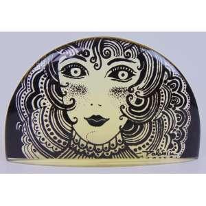 Palatinik - Placa rosto de mulher - 8 cm de alt, e 14 cm de comp.
