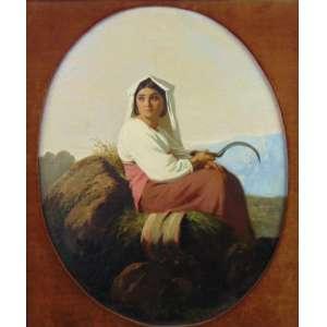 ANONIMO - Figura feminina - OST - 68 x 52 cm.