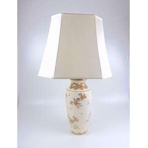 Vaso de Porcelana adaptado para abajur - 85 cm de alt.