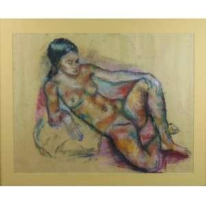José Maria Mallol Suzano - Nú Feminino - 49 x 63 cm.
