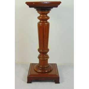 Coluna em madeira de lei estilo e época Império - 110 cm alt, 43 x 43 cm
