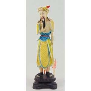 Escultura representando lanceiro executado de marfim - 16 cm alt.China Sec XX