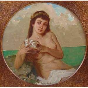 HENRIQUE BERNARDELLI - Sereia - OSC - dat 1921 - Rio - 37 cm diâm.