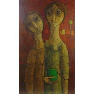 Inos Corradin - Figuras feminina - CIE - OST - 100 x 60 cm.