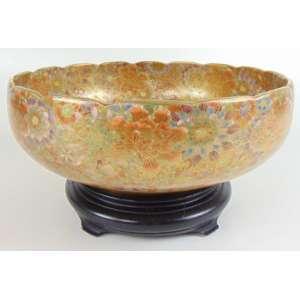 Bowl de cerâmica esmaltada decoração Satsuma -Japão Séc XIX - 11 cm alt e 30 diâmetro.