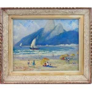 Manoel Santiago - Rio - Dat. 1956 - OST / CIE - 33 x 40 cm.(no estado)