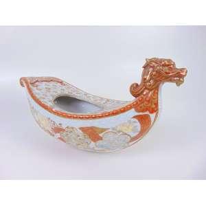 Fragmento de porcelana japonesa - Séc XIX - 26 cm alt + 41 cm compr + 19 cm prof.