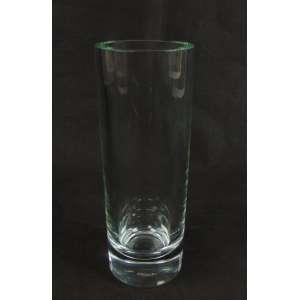 Cristalerie de Sevres - France. Vaso em cristal de forma cilíndrica, selado na base - França, 1960 - 29 cm de alt e 10 de diâm.