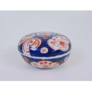 Bomboniere de porcelana Imari - Japão - 11 cm de diâm.