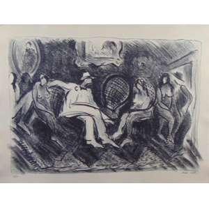 SERGIO TELLES - Litografia - CID - 11/30 - 50 x 65 cm. Importante lito reproduzida em pagina dupla no livro Sergio Telles de Pierre Courthion