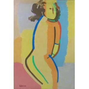 BUFFONI - Figura - OST/CIE - dat 82 - 98 x69 cm.