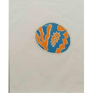 LEONILSON - Adesivo feito e distribuido pelo artista durante sua exposição na Luiza Strina - SP - dat 1985 - 9 x 11 cm.