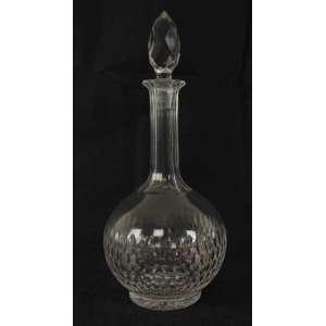 Garrafa de cristal lapidada - 29 cm de alt.