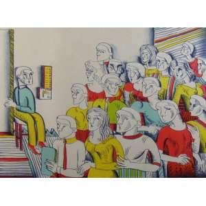 ZÉLIO ALVES PINTO - O Elevador – P.A. – N.Y 1989 – Impresso em SP 2000 - CID - 46 x 60 cm.