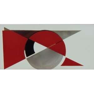 TONICO MENDONÇA – Caixa com camadas em vidro pintado - Abstrato - Assinada e datada no verso - 2014 – lua P - 18 x 38 cm.