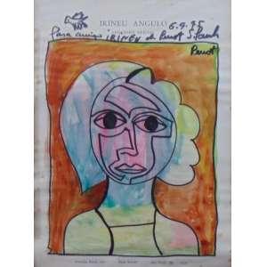 "RENOT - ""Irineu Ângulo""- Desenho sobre papel - CSD - 29 x 21 cm."