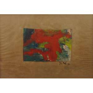 JORGE GUINLE - Técnica mista sobre cartão - CID - Dat 87 - 15 x 20 cm.