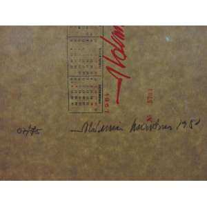 ALDEMIR MARTINS - Calendário - Serigrafia com estampa em relevo - CID - Tiragem 07/75 - 50 x 20 cm.