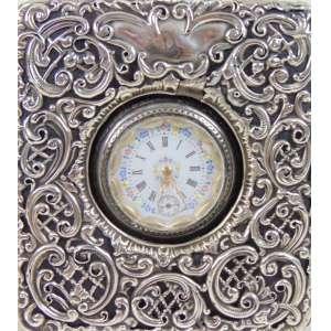 Porta relógio - Prata lei Inglesa acompanha seu respectivo relógio de pra lei - mostrador de esmalte