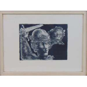 Marcelo Grassmann - Guerreiro - Gravura - CID - 37 x 51 cm
