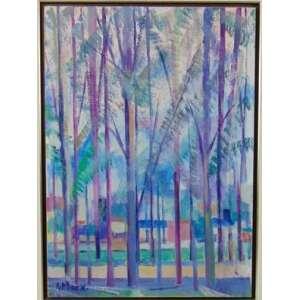 A.MARX - Ibirapuera , óleo sobre tela/ CIE - 70 x 50 cm.