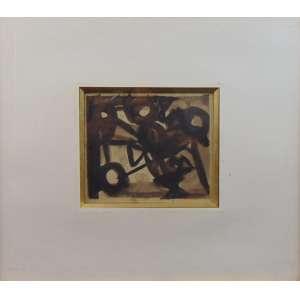 IBERÊ CAMARGO - Composição - nanquim sobre papel - Assinado no centro - dat 1963 - 16 x 19 cm.