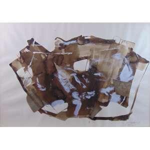 GISELDA LEIRNER - Abstrato - CID - Dat 1990 - 70 X 99 cm.